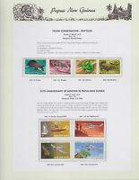 1972 PNG PAPUA NEW GUINEA Fauna Reptiles Aviation STAMP SET K-428