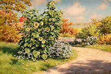 Landscape flowers along the road Tile Mural Kitchen Backsplash Ceramic 18x12