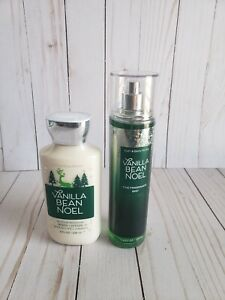 bath and body works vanilla bean noel body lotion and fine fragrance mist