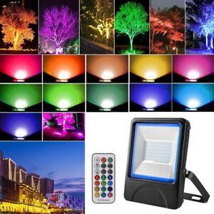 50W LED Projecteur RGB Spot de Chantier Lampe D'Extérieur Jardin IP66