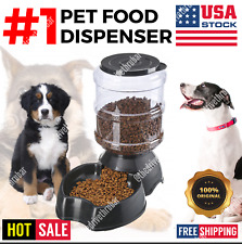 Automatic Pet Food Dispenser Feeder Puppy Dish Food Feeding Bowl Cat Dog