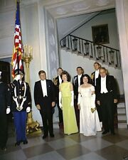 President and Mrs. John F. Kennedy with Puerto Rican Governor New 8x10 Photo