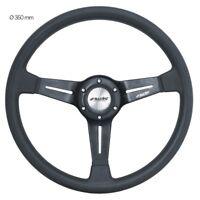 Simoni Racing Volante Universale SLAG in Poliuretano e Alluminio Nero