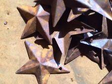"50 Total 1 1/2 in 1.5"" Dimensional Rusty Stars Primitive Metal Craft Rust 38mm *"