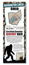 BIGFOOT HAIR SAMPLE PHOTO CARD - Famous Monster Cryptids Exposed - Ohio USA US