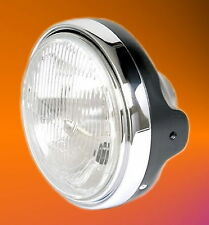 Scheinwerfer schwarz H4 Lampe Yamaha XJ XS SRX 250 400 600 650 750 850 900 1100