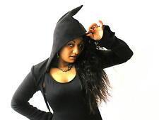 Women's Hooded Cropped Boleros Shrugs Jumpers & Cardigans