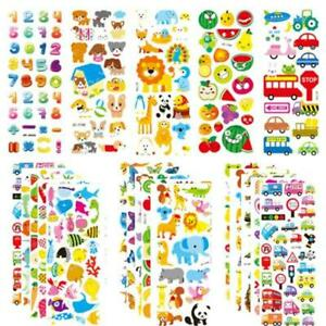 20 Sheets 3D Stickers for Kids Toddlers 500+ Puffy Stickers Variety Pack