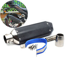Great l 38-51mm Black Carbon Fiber Motorcycle Exhaust Silencer Pipe
