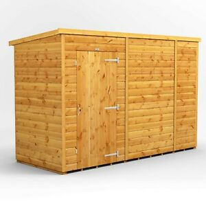 10x4 Power Pent Windowless Garden Shed | T&G | B GRADE SHED - AVAILABLE NOW