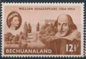 Omnibus - Bechuanaland - 1964 - Sc 197 - Shakspeare Issue VF MH