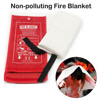 1 Emergency Fire Blanket Quick Release In Case For Home Office Car 1.8m x 1.8m