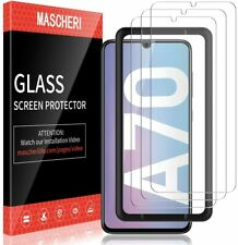 MASCHERI Screen Protector For Samsung Galaxy A70, [3 Pack] Tempered Glass