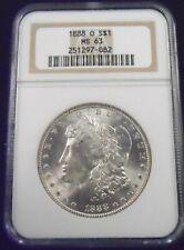 1888 O Morgan Silver Dollar - NGC MS63