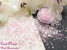 Nail Art *Pink Marshmallow* Chunky Hexagons Holographic Mix Spangles Glitter Pot