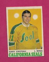 1970-71 OPC  # 189 GOLDEN SEALS GARY CROTEAU  ROOKIE EX-MT CARD (INV# 9245)