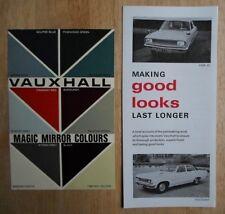 Vauxhall gamme ORIG 1967 UK MKT magic mirror couleurs brochures x2 VX 4/90 Viva