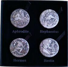 4x 2 Oz - Gods of Olympus 2017 - Aphrodite Hephaestus Hermes Hestia -High Relief