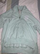 Victoria Secret PINK quarter zip sweatshirt mint green size small