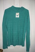 Beautiful, Textured Cable Sweater by Laura Scott Light Green NWT Retail 36.00 XL