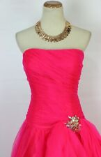 NEW Jovani Size 10 Prom Formal Dress Long Ball Gown Hot Pink Dress $460 NWT
