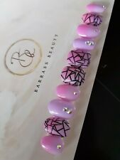 Hand painted press on nails