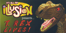 "T-Rex Lives! It's All an Illusion Jack in the Box Promo 2"" X 4"" MOTION FLIP Book"