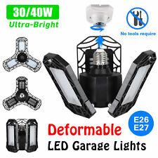 60 Led Deformable Garage lights 4000Lm Workshop Ceiling Lamp E26 E27 Base Ip65