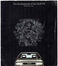 Audi V8 3.6 Saloon 1989-90 UK Market Launch Sales Brochure