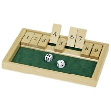Shut the box Würfelspiel aus Holz Reisespiel traditionell Würfelspiel goki WG175
