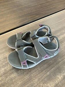 NEW Khombu Women's Evelyn Sandal Gray Adjustable Straps Comfort Pick Size