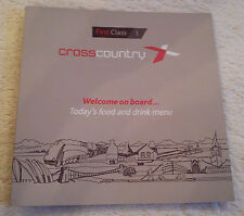 CROSS COUNTRY TRAINS MENU First Class Railway Dining Buffet Car Carriage 2014-15