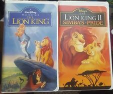 The Lion King and The Lion King II 2 Bundle VHS VCR
