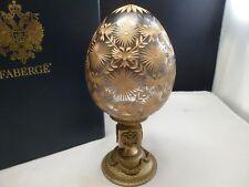 SIGNED TATIANA FABERGE ,  FABERGE CRYSTAL EGG CORONATION NEW BOX GOLD
