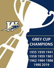 Winnipeg Blue Bombers - 2019 Grey Cup Champions Wall Art Poster, 8x10 Photo