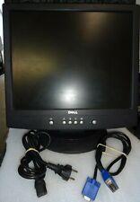 """Dell LCD Ordinateur de bureau écran E171FPb 17"""" avec cables alimentation et vga"""
