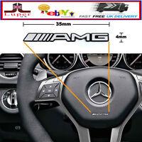 x2 AMG Steering Wheel Sticker Badge Logo Emblem Mercedes Benz Alloy Smart
