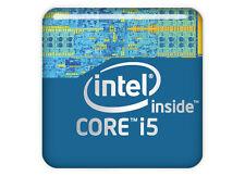 "Intel Core i5 Generation 1""x1"" Chrome Effect Domed Case Badge / Sticker Logo"