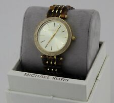 NEW AUTHENTIC MICHAEL KORS DARCI GOLD BROWN TORTOISE CRYSTALS WOMEN MK4326 WATCH