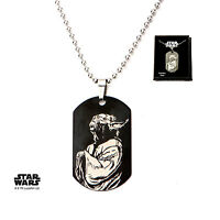 OFFICIAL STAR WARS YODA DOG TAG PENDANT ON CHAIN NECKLACE (BRAND NEW)