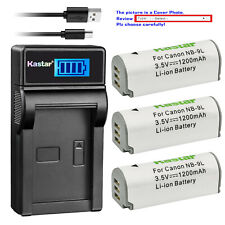 Kastar Battery LCD Charger for Canon NB-9L CB-2LB & Canon PowerShot N2 Camera