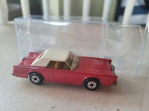 MATCHBOX SUPERFAST - LINCOLN CONTINENTAL [RED] EXCELLENT VHTF LOOSE