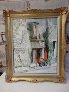 NICE old painting oil home delivery France vintage art signed