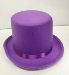 Purple Deluxe Top Hat  Adult Size