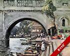 RICHMOND BRIDGE LONDON OLD ENGLAND ENGLISH BRITISH ART CANVAS PAINTING PRINT
