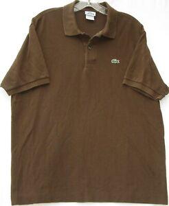 Lacoste men's short sleeve 100% cotton polo shirt (style 5191L) size (6) large
