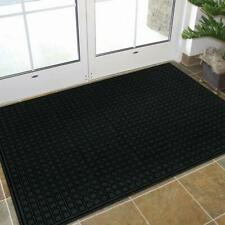Black 48 in. x 72 in. Synthetic Fiber and Recycled Rubber Commercial Door Mat