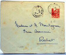 Lettre TIMBRE  MAROC TANGER CHERIFIEN en 1949    AV97
