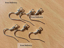 WHOLESALE 50pc 19mm Sterling Silver Plated Earring Hooks Wires Earring