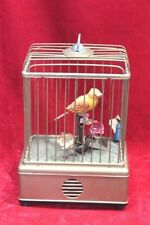 Brass Bird Cage Toy Old Vintage Antique Handcrafted Battery Operated Decor PX-37